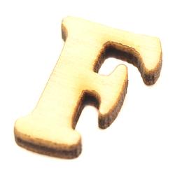Drewniana literka do rękodzieła - F - F