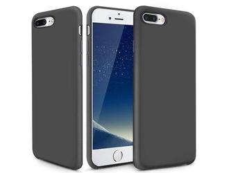 Etui alogy mat silicone case apple iphone 78 plus szare + szkło - szary