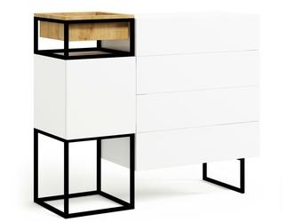 Nowoczesna komoda z szufladami box steel  szer. 120 cm