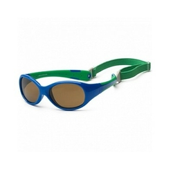 Okulary przeciwsłoneczne koolsun  flex royal green 3-6 lat