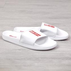 Klapki gumowe plażowe basenowe białe big star ff274a365 - biały