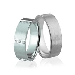 Obrączki srebrne z kamieniami - wzór ag-286