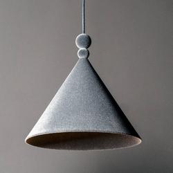 Loftlight :: lampa wisząca konko velvet szara szer. 30 cm