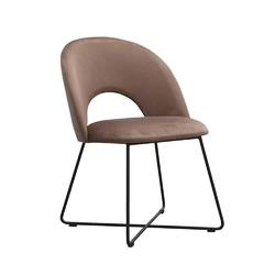 Nowoczesne krzesło tapicerowane alta na metalowych nogach