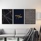 Zestaw trzech plakatów - carpe diem design , wymiary - 70cm x 100cm 3 sztuki, kolor ramki - czarny