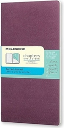 Notes moleskine chapters journal p purpurowy w kropki