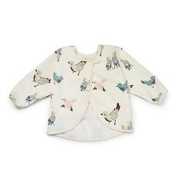 Elodie details - śliniak z długim rękawem - feathered friends - feathered friends