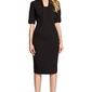 Czarna elegancka sukienka ołówkowa z rękawem 12
