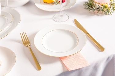 Talerz obiadowy płytki porcelana mariapaula złota linia 20 cm