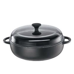 Kuchenprofi - provence - brytfanna z pokrywką, ⌀ 24,00 cm, czarna - czarny