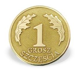 Grosz na szczęście ze złota m-2z doskonały na ślub lub zaręczyny - na zaręczyny  ok. 16 mm