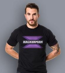 Hackerman t-shirt męski czarny l