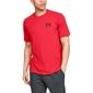 Koszulka męska under armour sportstyle lc back tee - czerwony