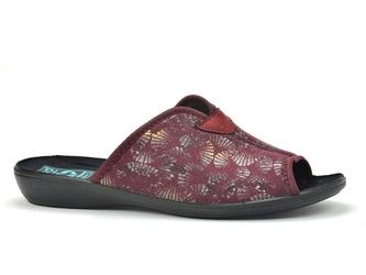 Pantofle  adanex 25920 bordowy