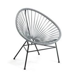 Metalowy fotel ogrodowy sumara szary