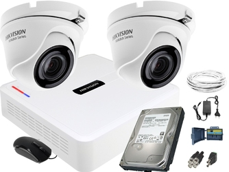 Zestaw do monitoringu 2 kamerowy hikvision hiwatch fullhd