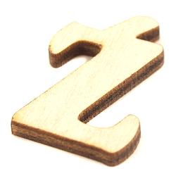 Drewniana literka do rękodzieła - Ź - Z2
