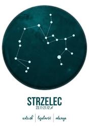 Znak zodiaku, strzelec - plakat wymiar do wyboru: 59,4x84,1 cm