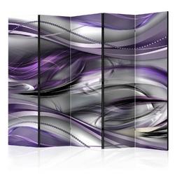 Parawan 5-częściowy - tunele fioletowy room dividers