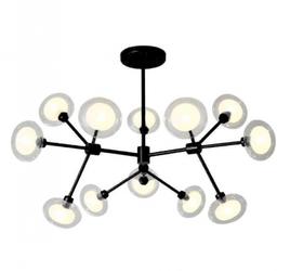 Żyrandol czarny lampa czarna sufitowa elegancka g9