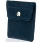 Skórzana bilonówka coin wallet brodrene cw02 granatowa - granatowy