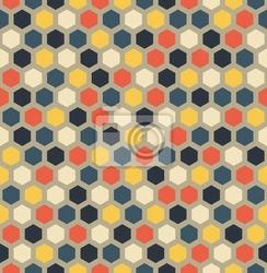 Fototapeta sześciokąt bez szwu wzór geometryczny