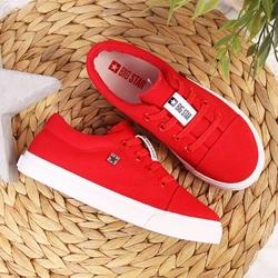 Tenisówki dziecięce tekstylne czerwone big star dd374077