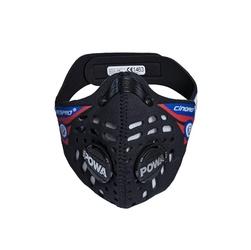 Respro ce cinqro black - sportowa maska antysmogowa pm2.5 pm10 rozmiar xl