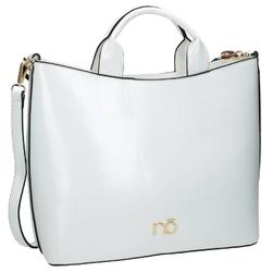 Klasyczna torebka z ekoskóry a4 nobo biała i4640 - biały