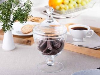 Bomboniera szklana  pojemnik na cukierki edwanex 26 cm