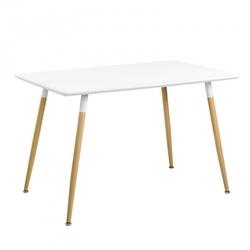 Nowoczesny stół do kuchni jadalni 120x80 biały