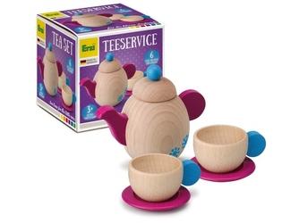 Serwis do herbaty drewniany zestaw do zabawy