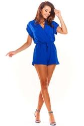 Niebieska elegancki letni kombinezon