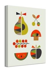 Kolorowe owoce - obraz na płótnie