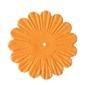Papierowe kwiatki 16 szt. - pomarańczowe jasne - pomajas