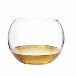 Świecznik szklany  wazon kula  altom design golden honey 13,5 cm
