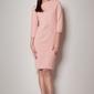 Różowa koktajlowa sukienka z rękawem 34