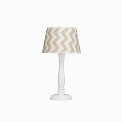 Lampka nocna roomee decor - beżowe zygzaki