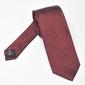 Bordowy jedwabny krawat w białe drobne kropki