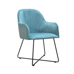 Nowoczesne krzesło tapicerowane justin x na metalowych nogach