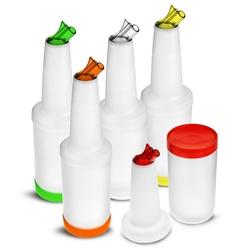 zestaw 5 butelek barmańskich z nalewakiem 5 x 1 litr