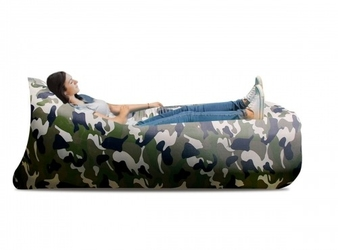 Lazy bag xxl - moro1 zielone air sofa materac leżak na powietrze