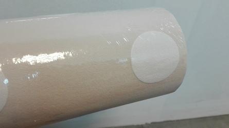 Tapeta beżowa w białe grochy 13598-10
