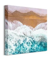 Fale przy brzegu - obraz na płótnie