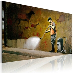 Obraz - bielenie lascaux banksy