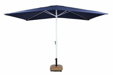 Parasol ogrodowy prostokątny z korbą ciemnoniebieski 2x3m