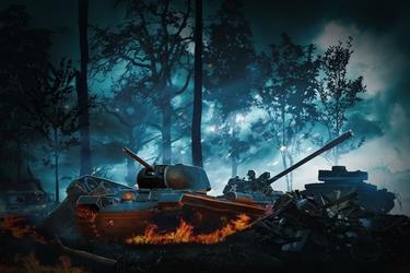 Fototapeta bitwa czołgów 1157