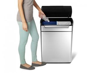 Kosz na śmieci touch bar recycler 48 litrów simplehuman cw2018