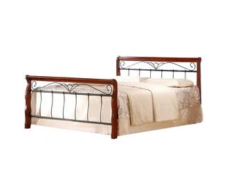 Łóżko dwuosobowe Veronica 160x200 antyczna czereśnia