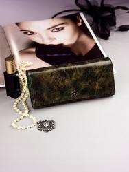 Pojemny portfel damski zielony px24-2 - zielony